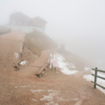Rifugio Lagazuoi avvolto nella nebbia